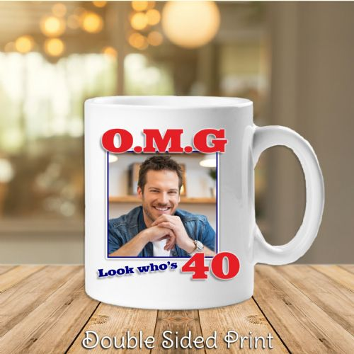 Personalised OMG Happy Birthday PHOTO Mug N13